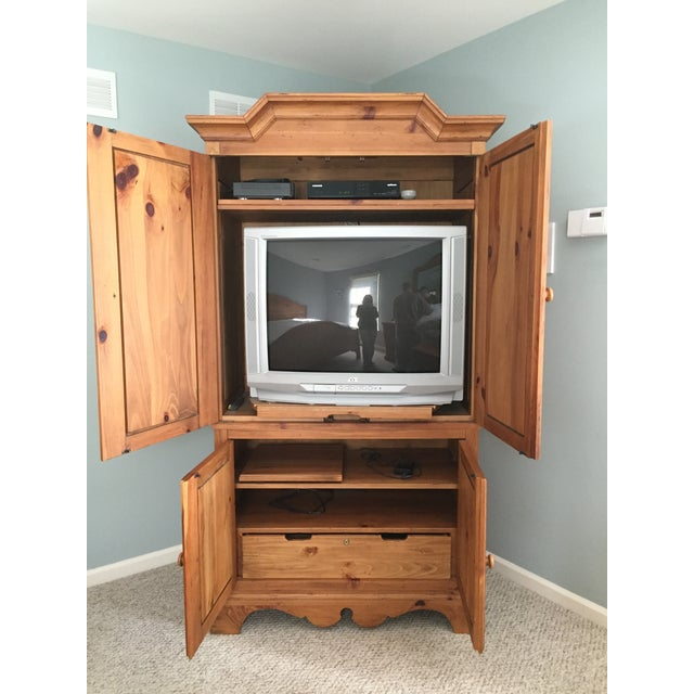 Ethan Allen Wooden Armoire - Image 5 of 10