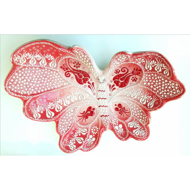 Turkish Handmade Butterfly Plate - Image 2 of 6