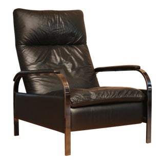 George Mulhauser DIA Leather & Chrome Recliner