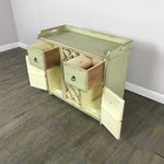 Image of Crate & Barrel Rustic Wine Rack Cabinet