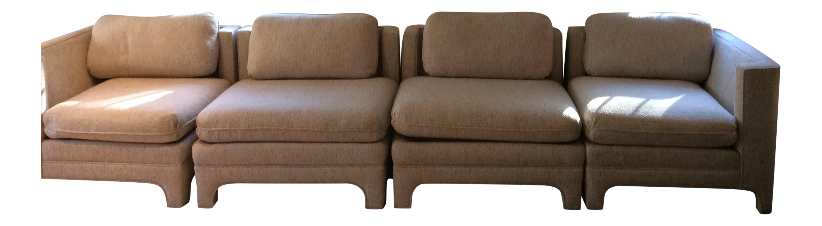 Milo Baughman Style Sectional Couch  sc 1 st  Chairish : sectional sofas cincinnati - Sectionals, Sofas & Couches