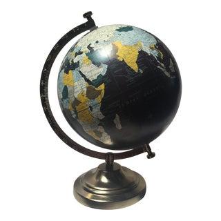Black & Brass World Globe