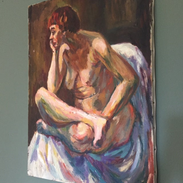 1960's Mid Century Female Nude Painting - Image 3 of 6