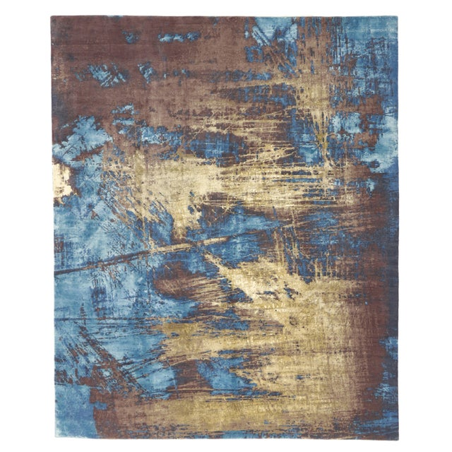 """Contemporary Abstract Scratch Texture Rug - 8'7"""" x 9'11"""" - Image 6 of 7"""