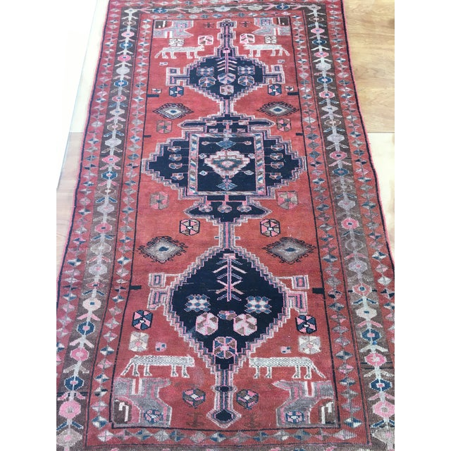 "Vintage Persian Rug 4'8""x 8'2"" - Image 2 of 7"