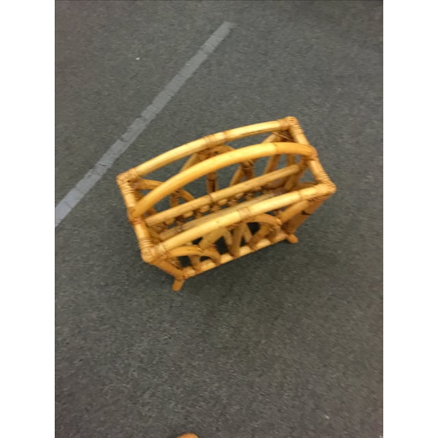 Paul Frankl Rattan Magazine Stand - Image 3 of 3