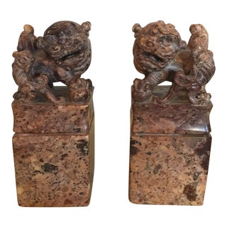 Vintage Chinese Foo Dogs - A Pair