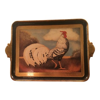 Hand Painted Rooster Wooden Tray
