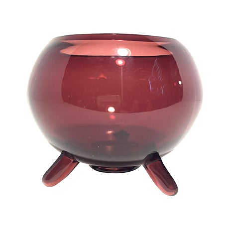 MCM Viking Footed Art Glass Dish - Image 1 of 7