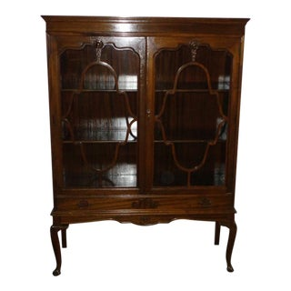 Queen Anne Mahogany China Cabinet
