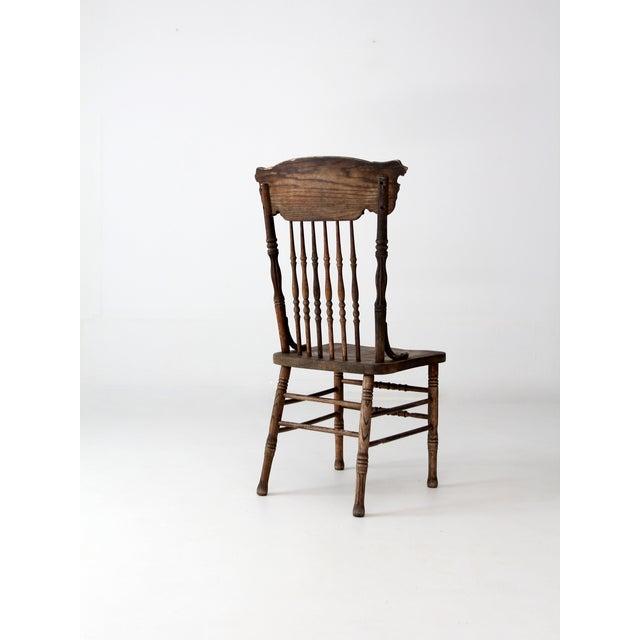 Pressed Oak Chairs ~ Antique oak press back chair chairish