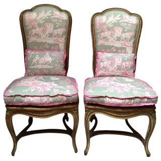 French Chairs in Manuel Canovas Toile - A Pair