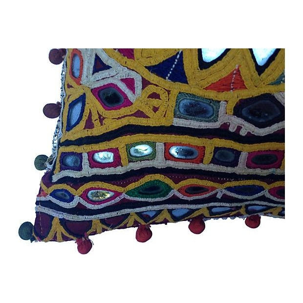 Indian Mirrored Gypsy Pillow - Image 3 of 5