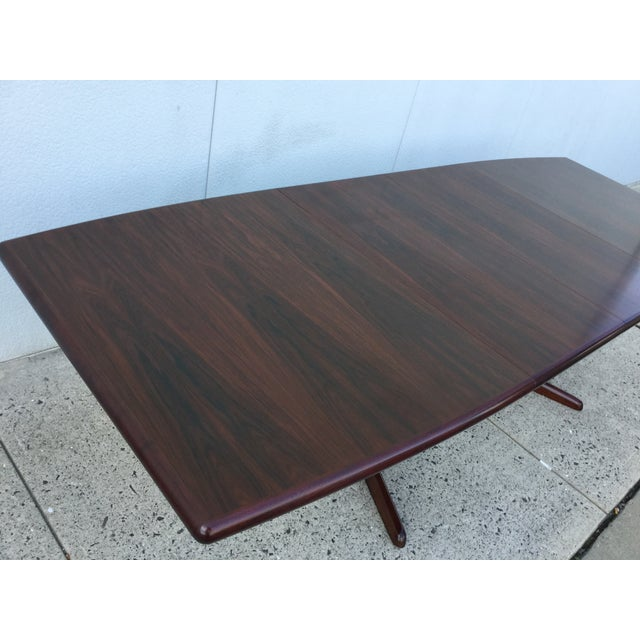 Massive Danish Rosewood Dining Table by Skovby - Image 7 of 11