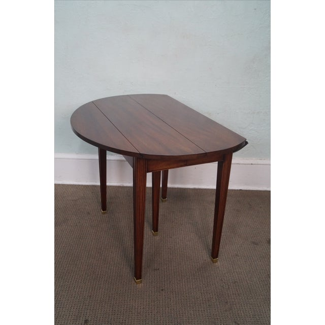 Henkel harris mahogany drop leaf extension table chairish for Drop leaf extension table