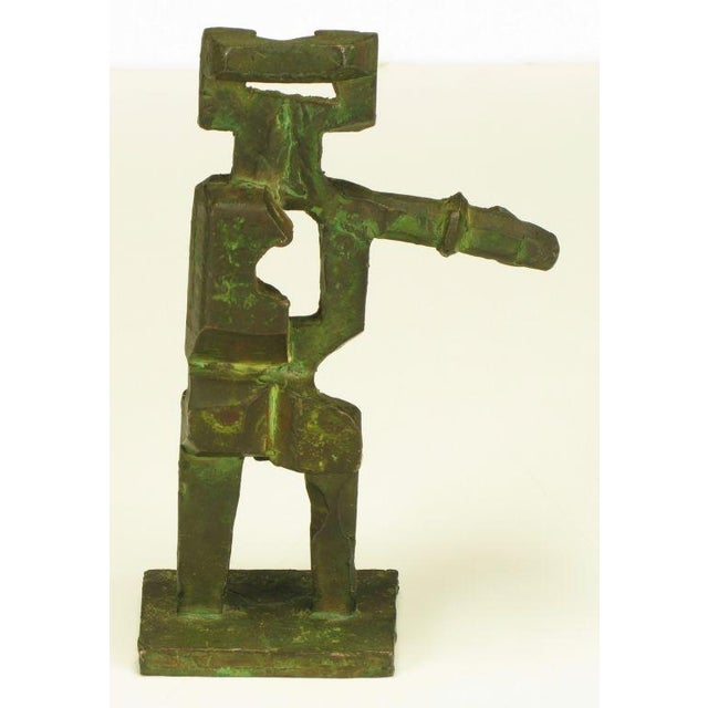 Pair Bronze Male & Female Abstract Sculptures, Signed. - Image 7 of 10