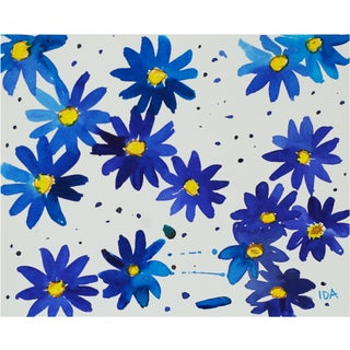 Scattered Blue Daisy Multimedia