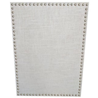 Natural Linen & Pewter Heads Spaced Cork Board