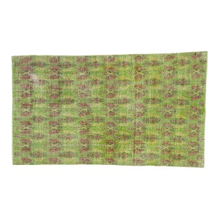 Green Turkish Deco Rug - 4′7″ × 8′