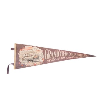 Grandview-Ship Hotel PA Alleghany Mountains Felt Flag
