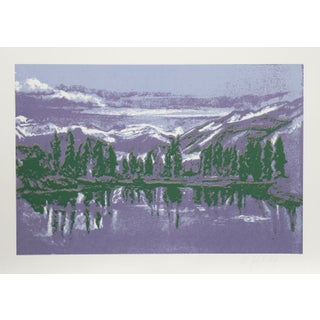 John Healy - Mountain Lake Serigraph