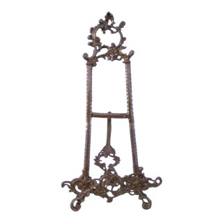 Large Table-Size Brass Ornate Easel