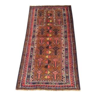 Handmade Persian Baluchi Rug - 2′4″ × 4′5″