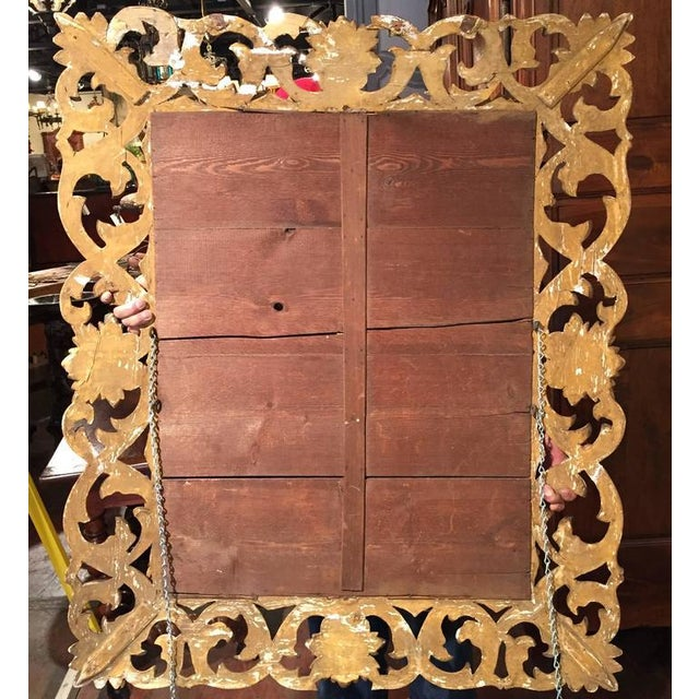 19th Century French Carved & Gold Leaf Rectangular Wall Mirror - Image 6 of 6