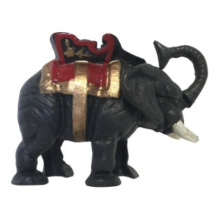 Cast Iron Mechanical Elephant Bank