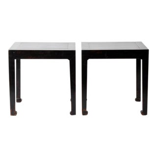 Pair of Chinese Side Tables with Restoration