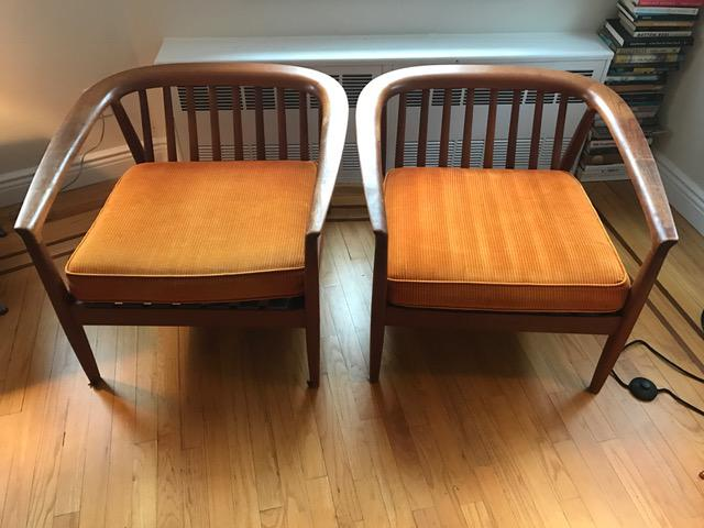 Dux Danish Modern Teak Barrel Back Chairs   A Pair   Image 4 Of 11