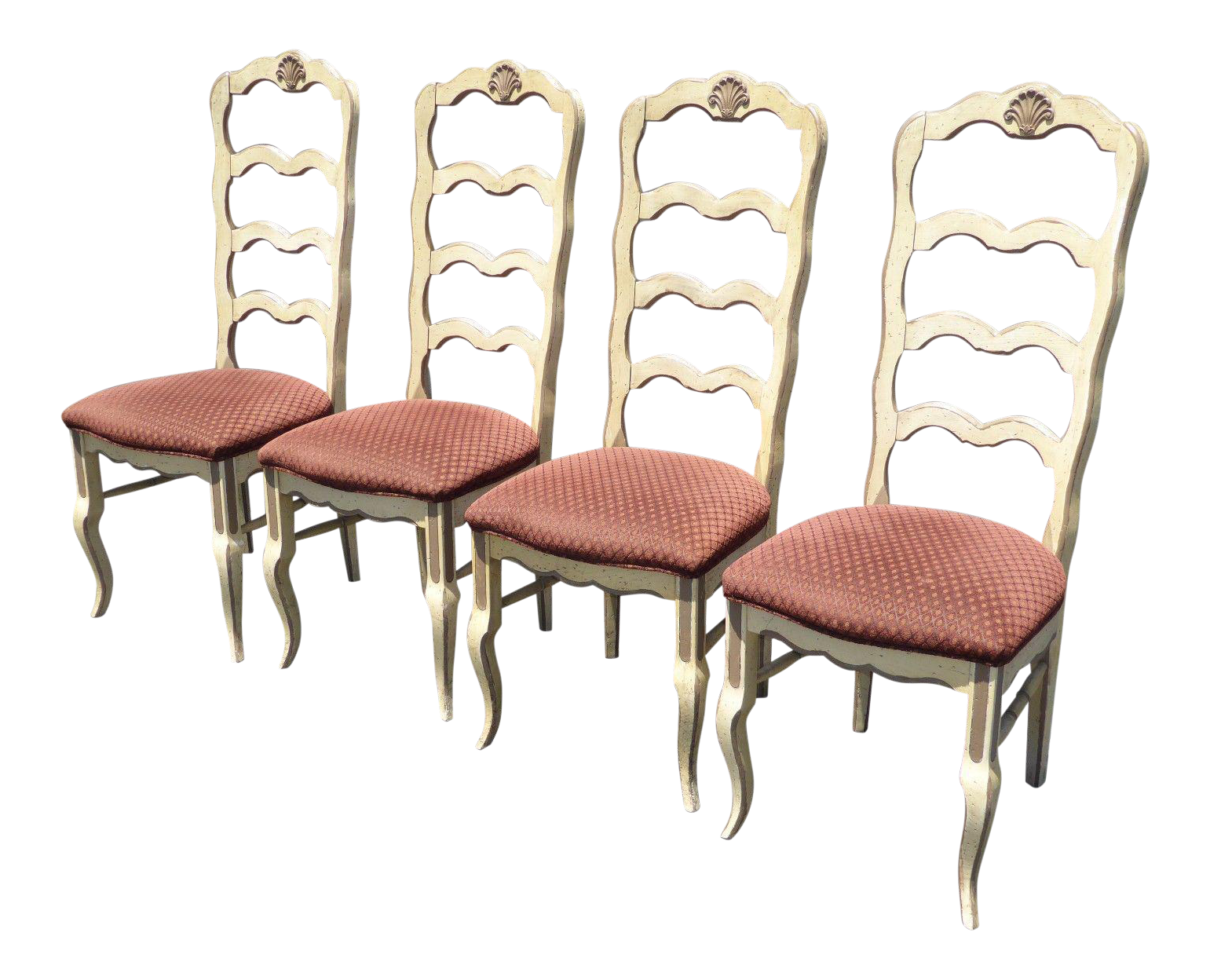 French Country Ladderback Dining Room Chairs   Set Of 4