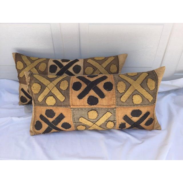 African Kuba Cloth Pillows- A Pair - Image 2 of 7