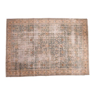 "Distressed Vintage Oushak Carpet - 8'2"" x 11'8"""