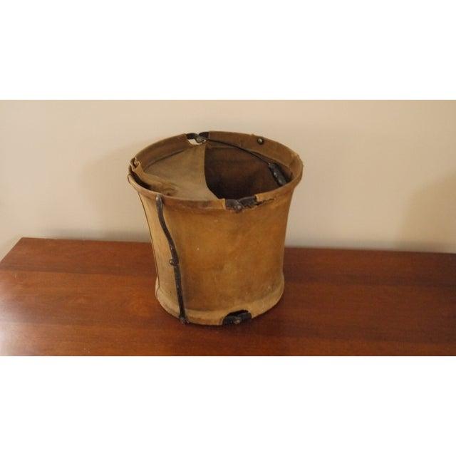 Vintage Canvas Army Bucket - Image 2 of 5