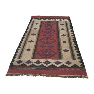 Vintage Turkish Kilim Rug - 3′2″ × 5′8″