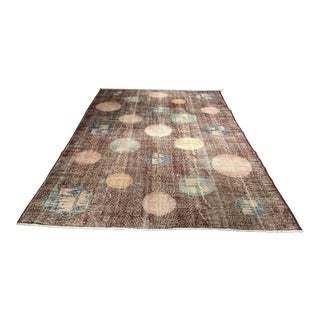 "Bellwether Rugs Vintage Zeki Muren Turkish Rug- 6'10"" X 9'10"""