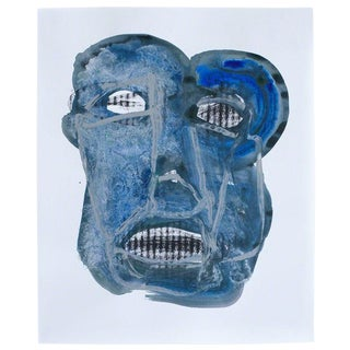 Brendan Getz Head 3 Mixed Media Painting