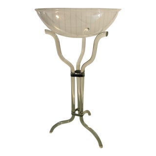 Dorothy Thorpe Style Mid-Century Lucite Champagne Chiller Stand & Bucket