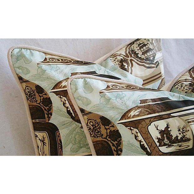 Custom Braemore Chinoiserie Vase Pillows - a Pair - Image 5 of 9