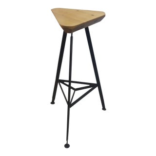 Delta Steel and Pine Stool