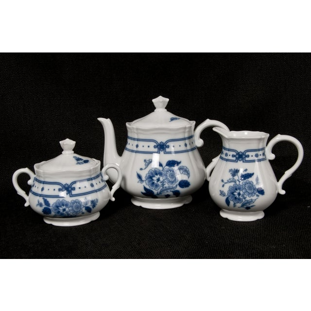 Italian Blue & White Tea Service - Image 3 of 6