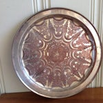 Image of Vintage Moroccan Engraved Patterned Tray