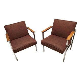 "Vintage Mid-Century ""Paddle"" Armchairs - a Pair"