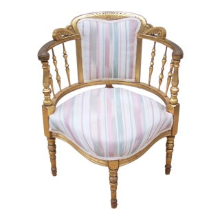 Giltwood Victorian Boudoir Corner Chair