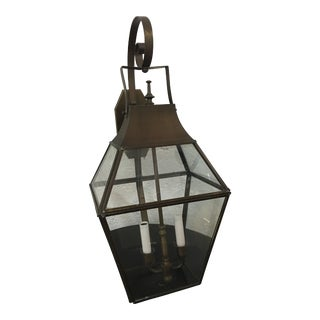 Brass & Glass Wall Lantern