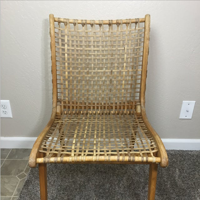 Tubbs Oak & Rawhide Side Chairs - A Pair - Image 4 of 11