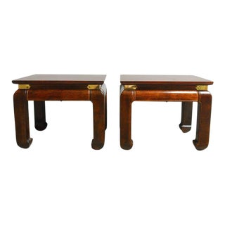 Mid-Century Ming Style Footstools or Drink Tables - a Pair