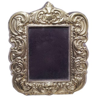 Victorian Sterling Silver Vermeil Picture Frame