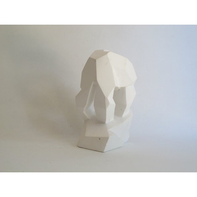 Abstract Cubist White Plaster Statue - Image 5 of 11